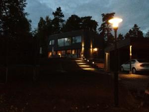 Belysningkväll nerifrån