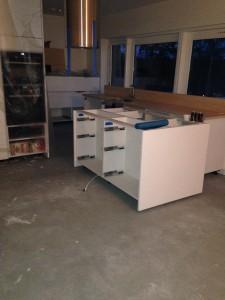 Köket innan läggning